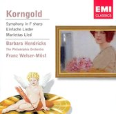 Korngold: Symphony in F/Six Simple Songs/Mariettas Lied