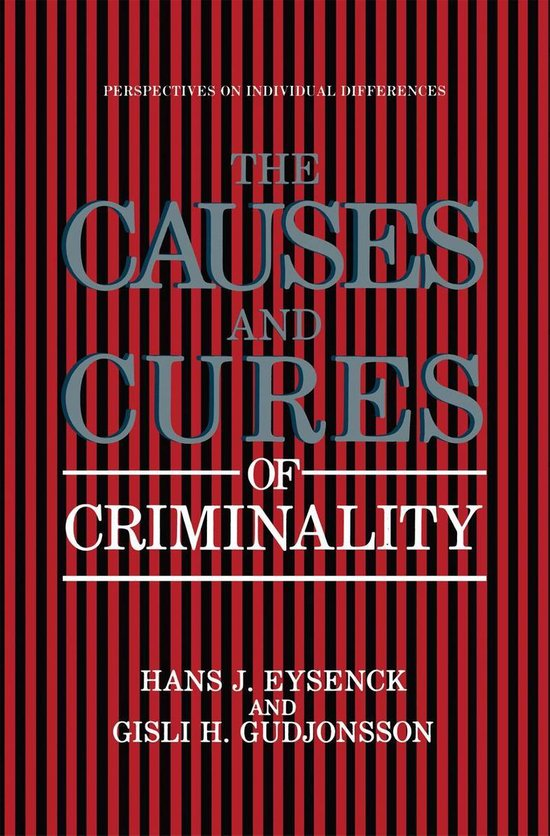 Boek cover The Causes and Cures of Criminality van H. J. Eysenck (Onbekend)