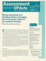 Assessment Update Volume 19, Number 6, November-december 2007
