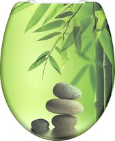 SCHÜTTE WC-Bril 82365 GREEN GARDEN - Duroplast - Soft Close - Afklikbaar - RVS-Scharnieren - Decor - 3-zijdige Print