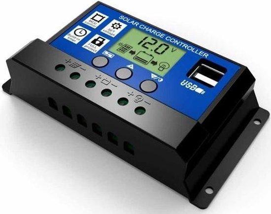 10A DC 12V - 24V PWM Solar laadregelaar met LCD en 5V USB