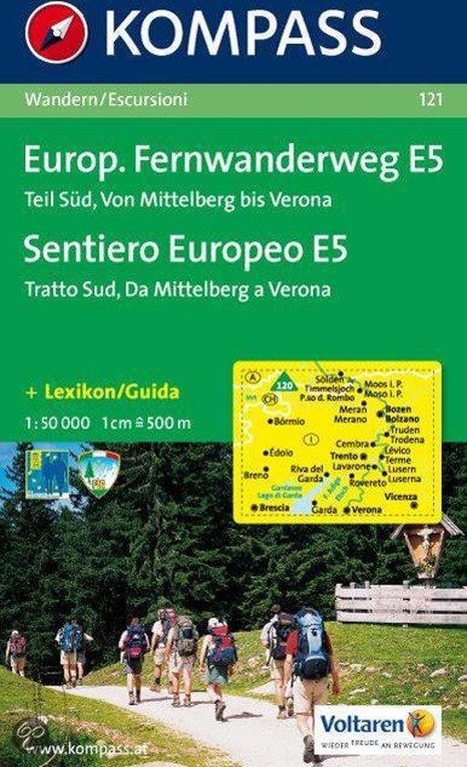 Cover van het boek '121: Europaischer Fern - Wanderweg E5 Teil Sud 1:50, 000'