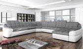 U-bank Comfy - Antraciet/Wit - Lounge links