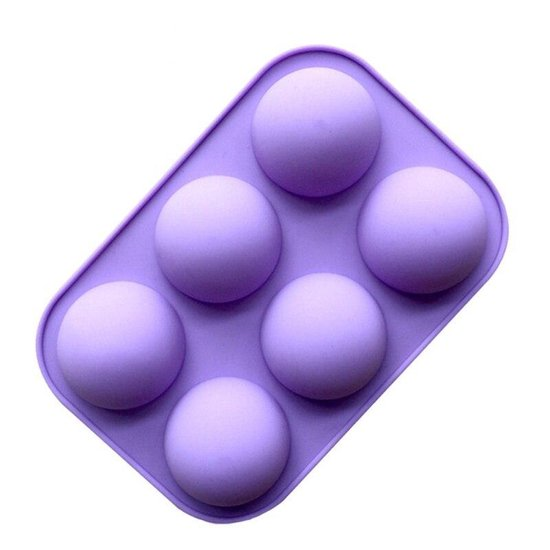 BukkitBow - Siliconen Bakvorm 6 Halve Bollen - Brownies/Cupcakevorm/cakevorm/ Bak&Pan decoraties