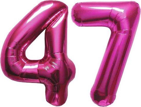 Cijfer 47 Magenta Helium 86 cm Excl. helium