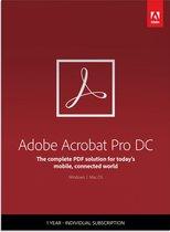 Adobe Acrobat Pro DC - 1 Apparaat - 1 Jaar - Multi Languages - Windows / Mac Download