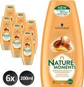 Schwarzkopf  Nature Moments Moroccan Argan Oil & Macadamia Oil Conditioner - 200 ml - 6 stuks - Voordeelverpakking