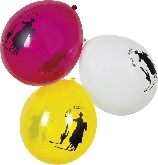 48 stuks: Set 6 Ballonnen - Wilde Westen - assorti - 25cm