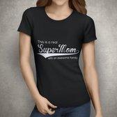 Supermom Tshirt | Zwart | XLarge