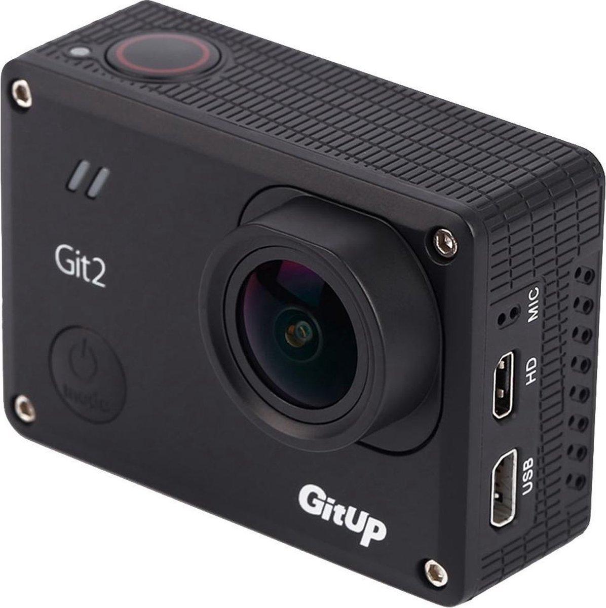 GitUp Git2 Standard Edition 2K HD WiFi Action Camera DV Action Camera(zwart) - GoPro-Mania Huismerk