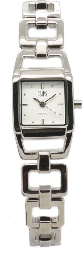 Clips 553-2011-18 Horloge – Staal – Zilverkleurig – Ø 26 mm