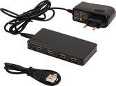 König 7-poorts USB hub met voeding - USB2.0