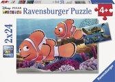 Ravensburger Disney Finding Nemo. Nemos avonturen- Twee puzzels van 24 stukjes - kinderpuzzel