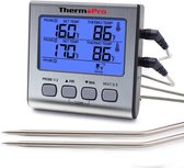 ThermoPro Dubbele Vleesthermometer Digitaal - BBQ Thermometer - incl. Batterij