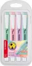 STABILO Swing Cool Pastel - Markeerstift - Etui Met 4 Kleuren