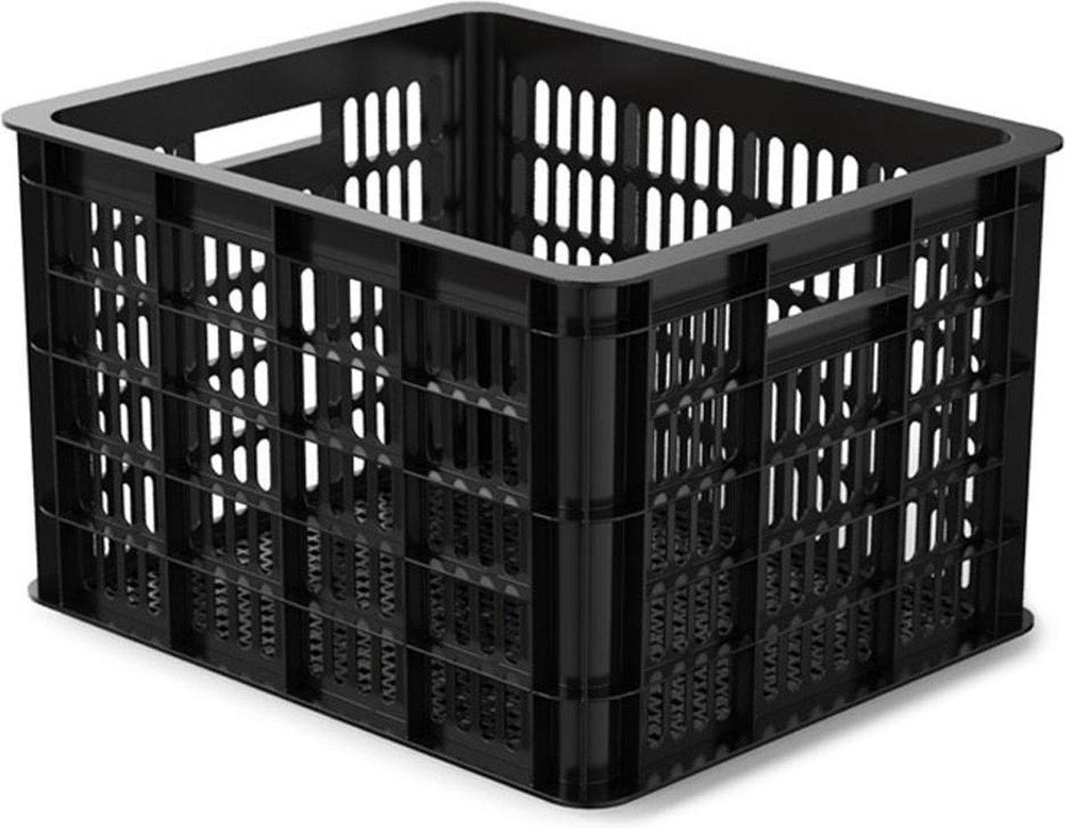 Basil Crate Fietskrat M - Medium - Zwart - 33 Liter - Basil
