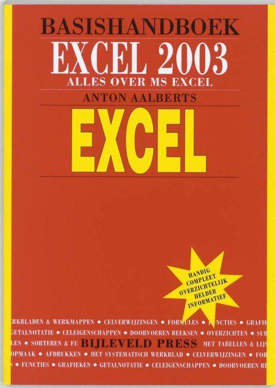 Cover van het boek 'Basishandboek Excel 2003'