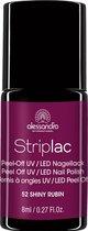 Alessandro Striplac - 52 Shiny Rubin - Paars - Gel nagellak