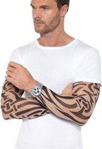 2x Tattoo sleeves tribal voor volwassenen - Verkleed accessoires bikers/voetballers
