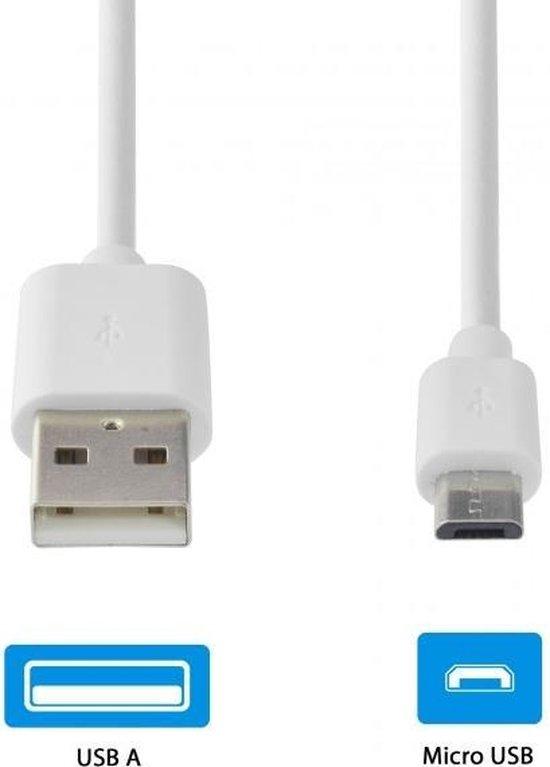 GnG Grab n Go Micro USB Kabel 3 Meter Wit