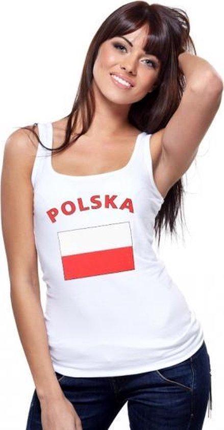 Witte dames tanktop Polen M