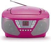 Bigben CD60RS -Draagbare Radio met 400 Stickers - Roze