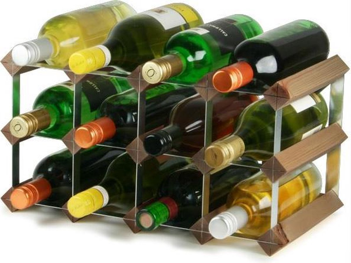 Sorrells wijnrek 12fles dark oak - Sorrells