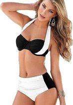 High waist bikini set zwemkleding-Wit-M