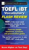 Boek cover TOEFL iBT® Vocabulary Flash Review van Learningexpress
