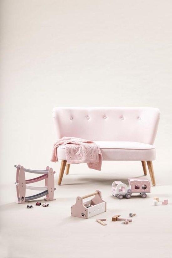 Houten racebaan roze Kids Concept