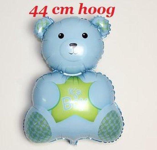 Blauwe Beer Ballon - It's A Boy - 44 cm - Babyshower & Geboorte Versiering