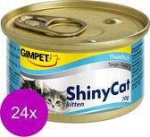 Shinycat Kitten Tonijn Kattenvoer - 70 gr - 24 stuks