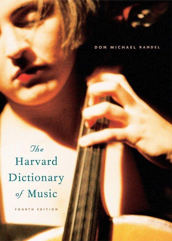 Boek cover The Harvard Dictionary of Music van  (Onbekend)