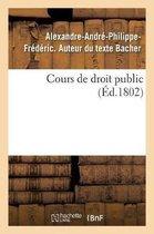 Cours de droit public