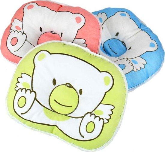 Hoofdkussen - Babykussen - Baby hoofdsteun - Tegen plat achterhoofdje - blauw