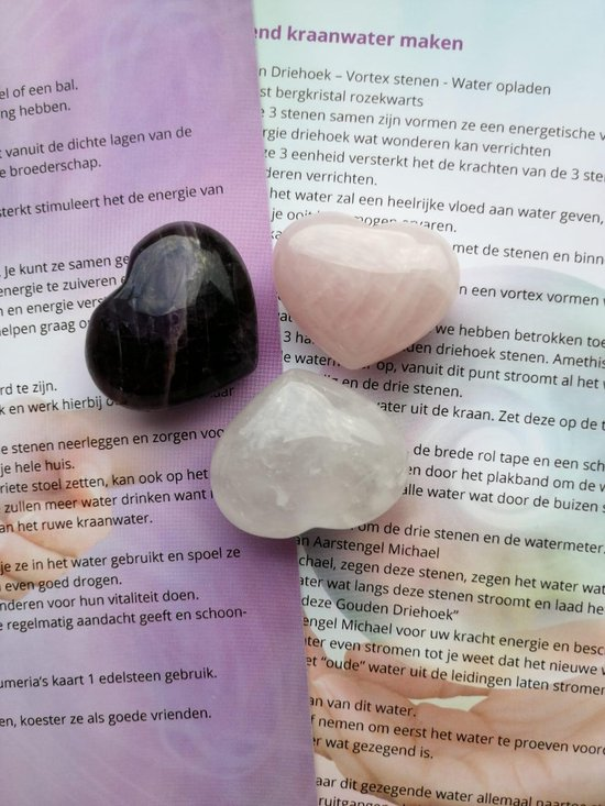 Votrex Setje van 3 harten edelstenen - Lumeria
