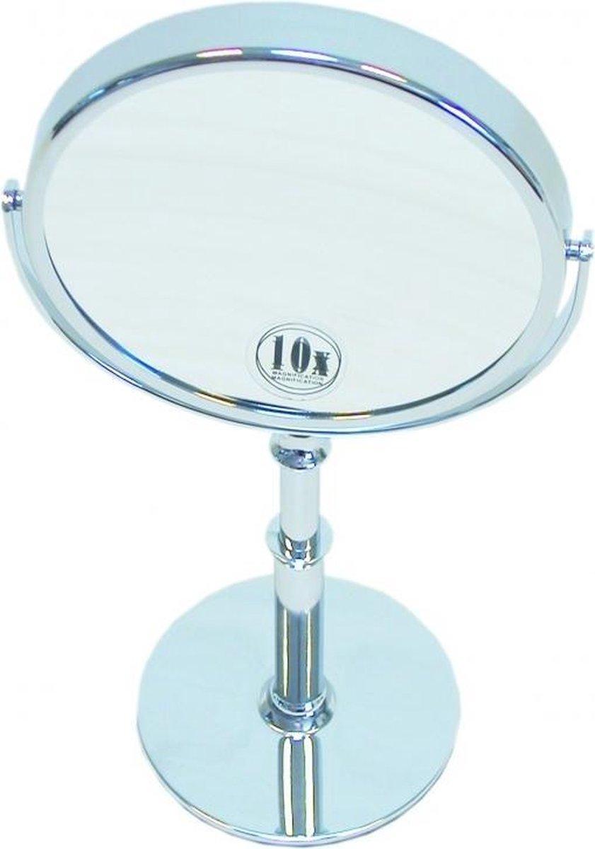 Gérard Brinard metalen hand stand make up spiegel 10x vergroting - Ø15cm - Gerard Brinard