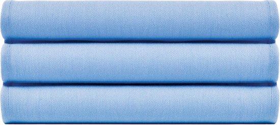 4 Stuks Theedoeken Uni Pure Zeeblauw Col 2096