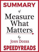 Boek cover Summary of Measure What Matters by John Doerr van Speedyreads