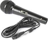 Microfoon - Dynamische microfoon Zwart voor karaoke en DJ's - Fenton DM100