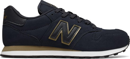 New Balance 500 Classics Traditionnels Sneakers - Maat 38 - Vrouwen -  blauw/goud