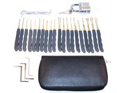 Phonaddon Lock Pick Set 25 Delig Doorzichtig Slot 20 Picks en Hoes