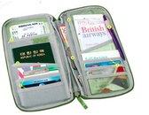 Reis portemonnee donkerblauw zonder logo - Travel wallet navy - reisdocumenten houder -  paspoorthouder - Paspoorthoesje