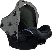 Dooky Hoody Autostoel Zonnekap - Grey Stars