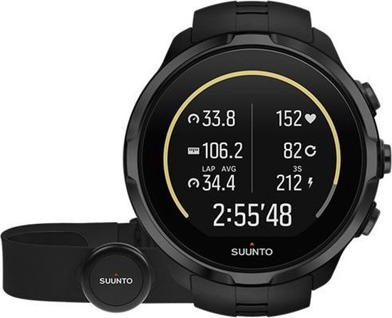 Suunto Spartan Sport Wrist HR inclusief HR belt - All Black