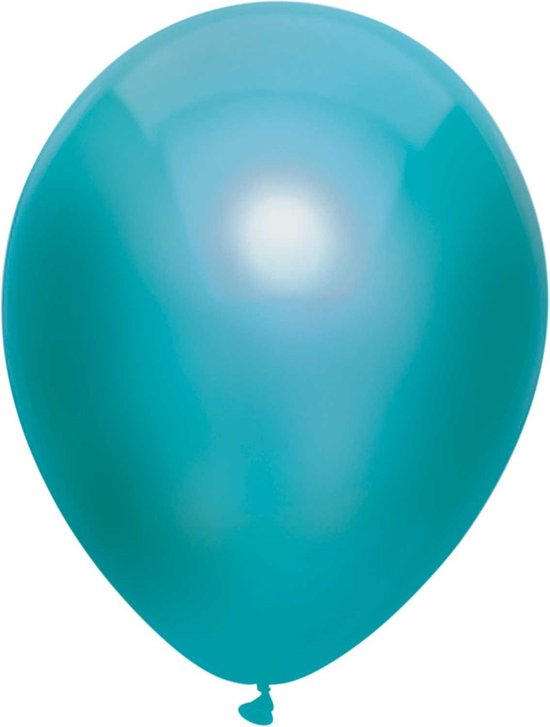 Haza Original Ballonnen Metallic Teal 10 St.  30 Cm