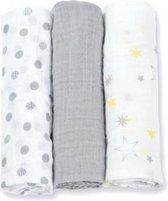 Lulujo medium swaddle - Calming Grey 3-pack