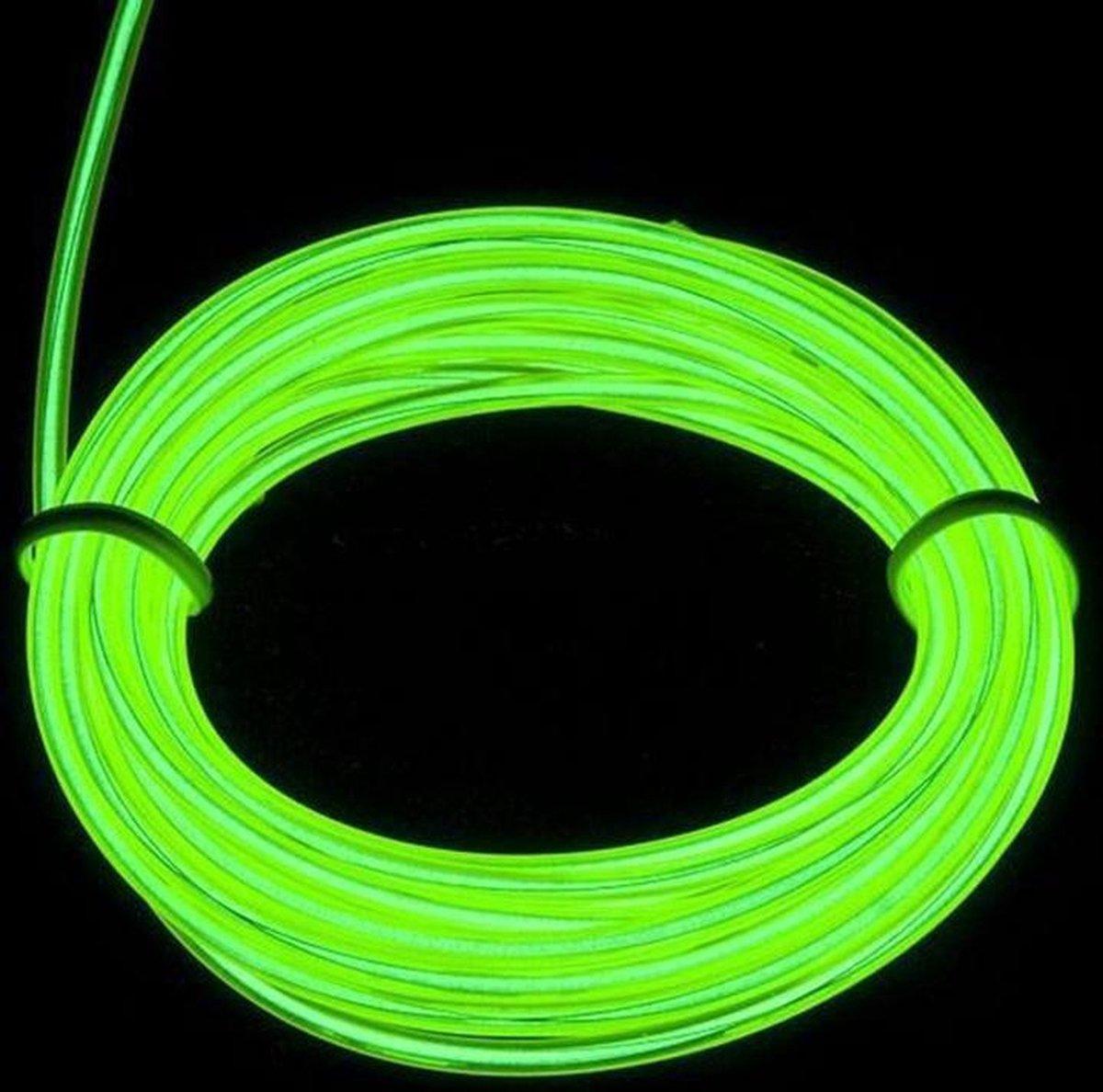 EL Wire / Draad - groen / Green 100 M- met 230 volt aansluiting