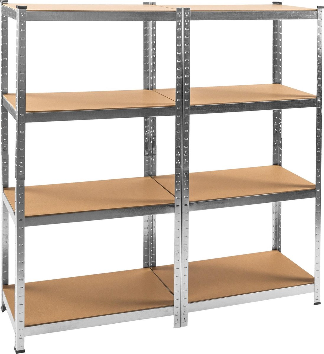 TecTake - stevige legbordstelling - 8 legborden - afm. 160x160x40 - 402171