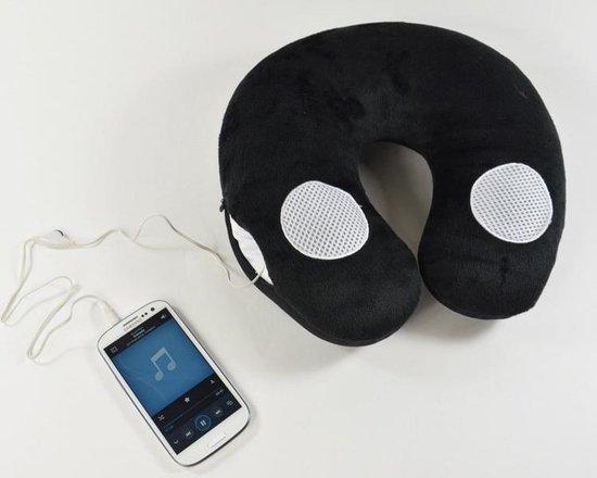 3D Comfort Nek Reiskussen Met Speakers Luidspreker - Audio Travel Pillow - Reis Neksteun Vliegtuig / Auto Kussen